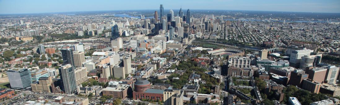 Photograph of University City, the district of Philadelphia where University of Pennsylvania is located.
