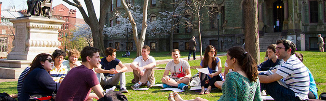 Image of students on the University of Pennsylvania campus.