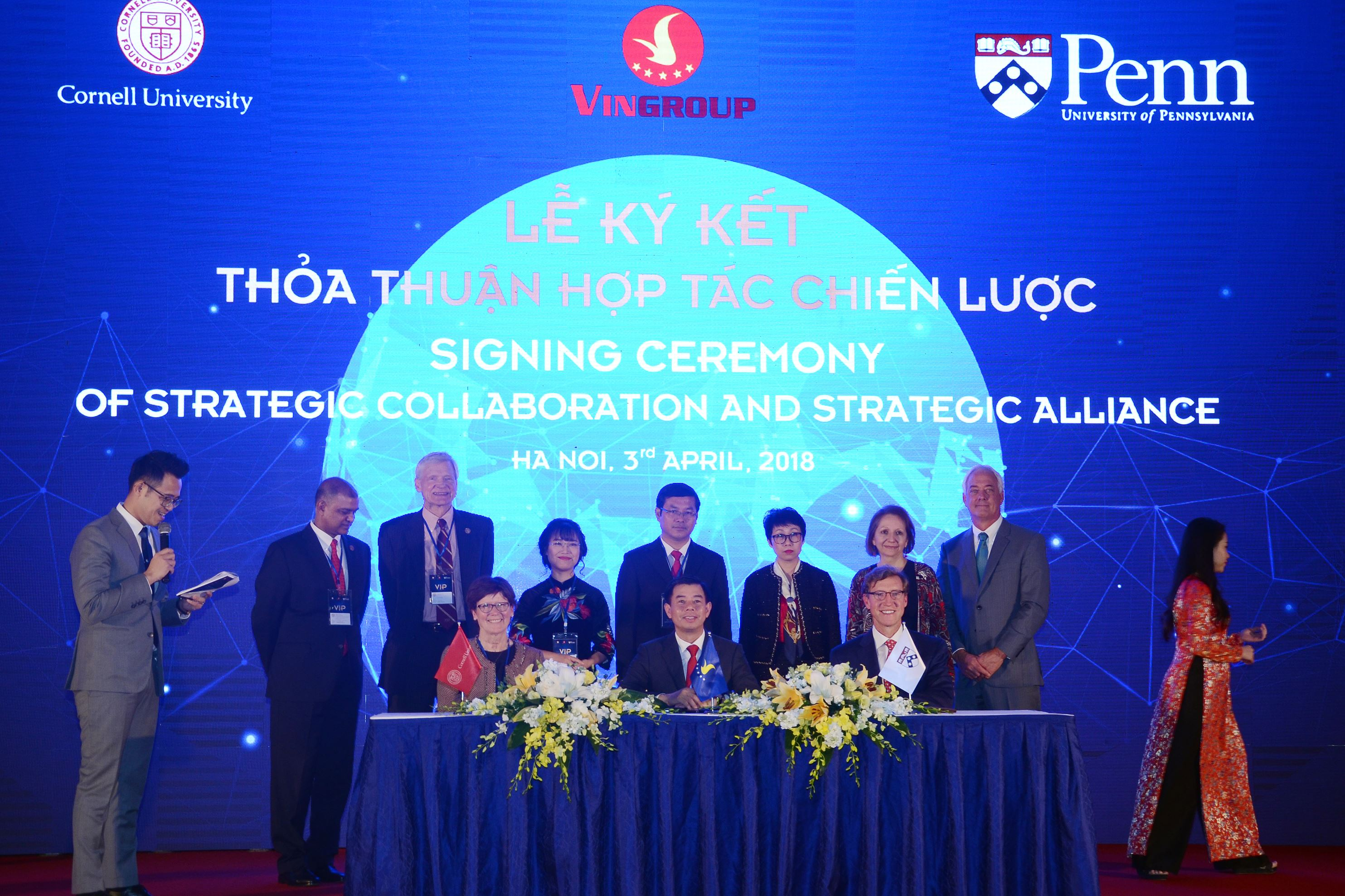 Vingroup-Penn Alliance signing ceremony of strategic collaboration and alliance