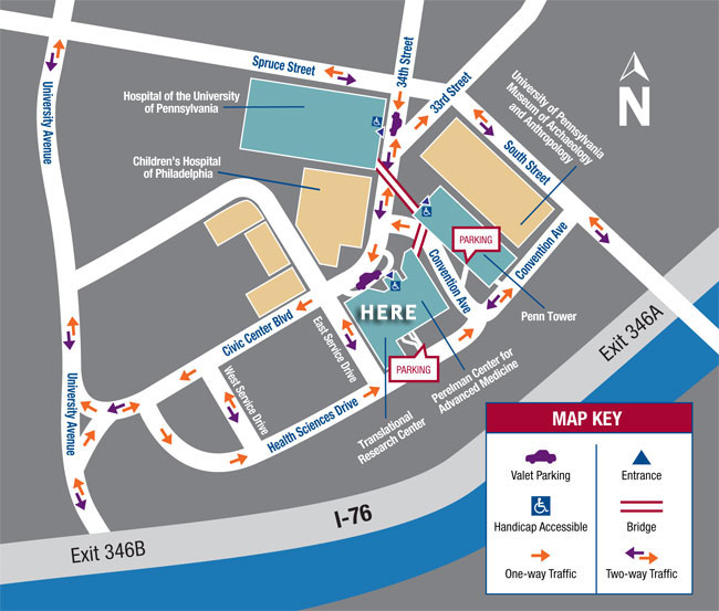 HUP campus map