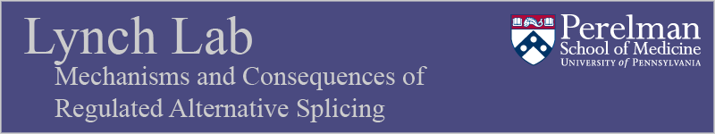 Lynch Lab: Mechanisms and Consequences of Regulated Alternative Splicing
