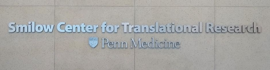 Smilow Center for Translational Research sign